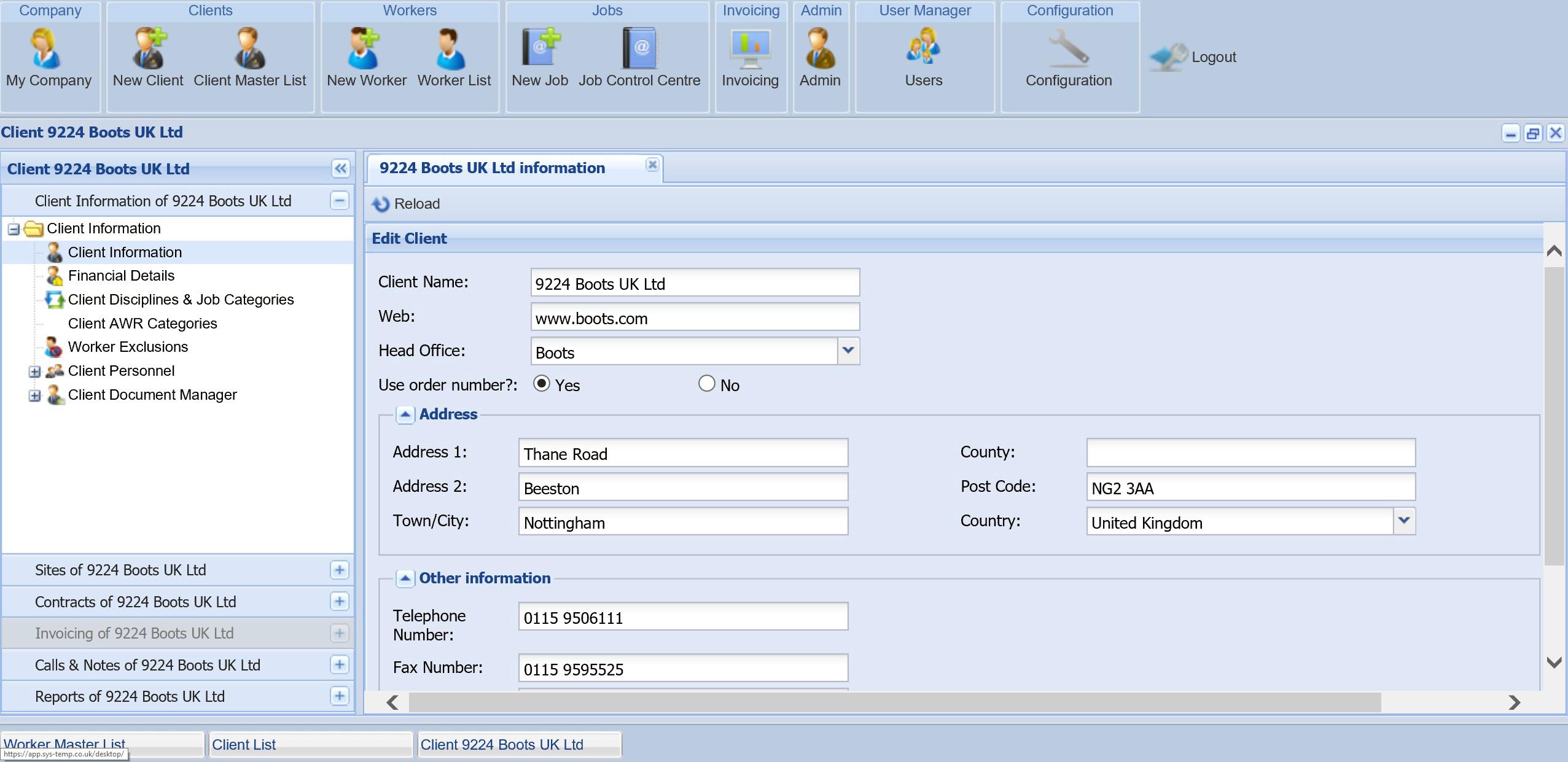 client-database